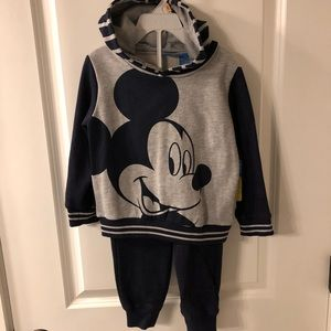 Boys Mickey Mouse Hoodie & Sweat Set - 2T